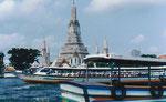 Wat Arun am Menam Chao Phraya, Bangkok, Thailand