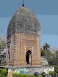 Terrakotta-Tempel Pratapeswar, Indien