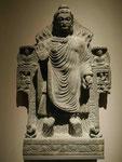 Der Buddha zeigt Wundertaten (Das Doppelwunder von Shravasti), Gandhara, 3. Jh. n. Chr.