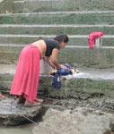 Wäschewaschen am Ganges