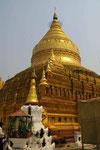 Die strahlende Shezigon-Pagode in Nyang U,  Myanmar (Burma)