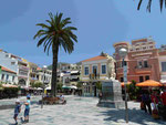 Platz in Samos Stadt, Griechenland