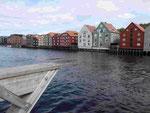 Speicherhäuser in Trondheim, Norwegen