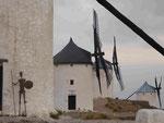 Windmühlen in Consuegra, La Mancha, Spanien