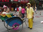 Rikschafahrer in Nanjing, China