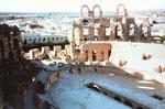 Das Amphietheater von Oudna in Tunesien