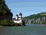 Rumänisches Kloster am Eisernen Tor an der Donau