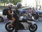 Motorradpaar in   Santiago de Chile