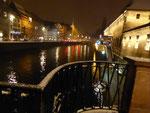 Straßburg in der Vorweihnachstszeit an der Ill