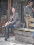 Junge Frau in Lingjan, China