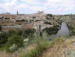 Blick auf Toledo mit dem Rio Tajo, Spanien