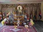Im Tempel aus Kambodscha in Bodhgaya, Indien