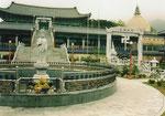 Moderner Tempel nördlich von Pusan, Südkorea