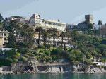 Blick auf das Hotel Imperial, Rapallo, Italien
