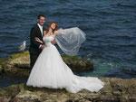Brautpaar beim Fotoshooting in Chersones/Ukraine