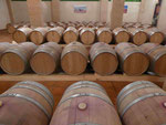 Holz 1: Weinfässer in einer Bodega in Consuegra, Spanien