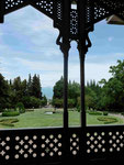 Balkon vom Museum Tsindali des Dichterfürsten Aleander Chavchavadze in georgien