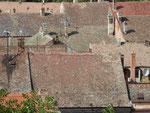 Dächer unter der Festung von Novi Sad, Serbien