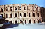 das römische Amphietheater von Thydrus (ES Jem) in Tunesien