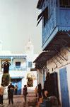 Das Viertel Sidi Bou Said der andalusisch-muslimischen Flüchtlinge nahe Tunis
