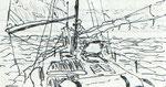 """Taiwan-Clipper """"Jakahi"""" bei der Atlantiküberquerung Nov./Dez. 1985"""
