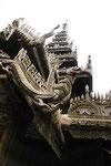Das alte Yoke-Son Kloster mit Teakholz-Schnitzereien Myanmar (Burma)