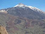 Drei Ansichten des El Teide, Teneriffa, Spanien