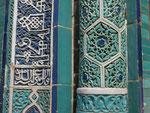 Fliesen in der Shahinda, Samarkand, Usbekistan