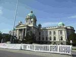 Serbisches Parlament in Belgrad