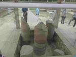 Die Ashoka Säule in Sarnath, Indien