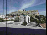 Blick vom Akropolismuseum in Athen