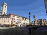 Marktplatz von Zittau, Sachsen