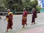 Mönche in Bodhgaya
