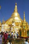 Swedagon-Pagode in Yangon, Myanmar (Burma)