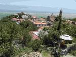 Blick auf die Stadt Sighnaghi in Kachetien, Georgien