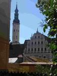 Peter-Paulkirche und Renaissancefassade in Zittau, Sachsen