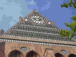 Außenfassade der  gotischen St. Nikolai Kirche in Wismar