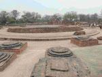 Die Ausgrabungsstelle in Sarnath, Indien