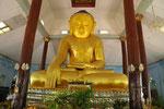 Buddhafigur aus Pappmaschee, angespült vom Fluss!  Myanmar (Burma)