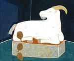 「カウリスマキをみるヤギ」
