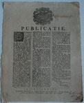 7 February 1788 ; betreffende het verbod op export van pijpmakers materialen naar het buitenland