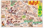 日本女子大イラストマップ