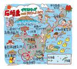 石垣島イラストマップ
