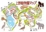 上野動物園マップ