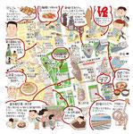西新宿イラストマップ