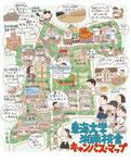 東海大学湘南校舎キャンパスイラストマップ