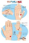 手のツボ 指圧