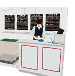 会社 オフィス 仕事 調布飛行場 発券カウンター
