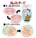 指のマッサージ 運動