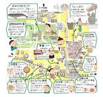 立川 昭和記念公園 イラストマップ